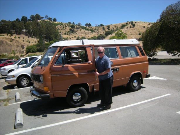 """Steve and Westy """"Baby Girl"""" on our test drive, Pt Richmond, CA"""