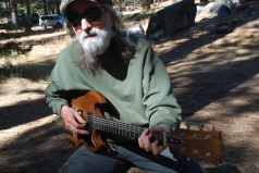 """Art Playing the """"SG"""" at Grover Hot Springs"""